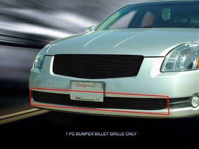 $51.09 • Buy Black Billet Grille Grill Bumper Insert For Nissan Maxima 2004-2006