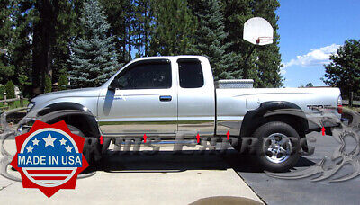 $165.99 • Buy Fit:95-04 Toyota Tacoma Extended Cab 4WD Short Bed Rocker Panel Trim WF 10Pc 5