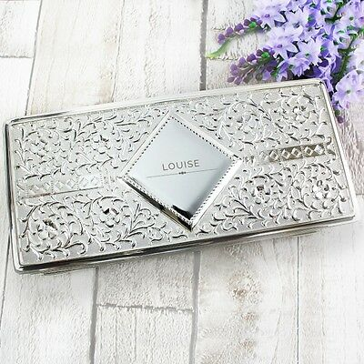 £32.99 • Buy Personalised Engraved Luxury Antique Silver Plated  Jewellery Box Mother's Day
