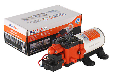 NEW SEAFLO 22-Series High Pressure Water Pump -12v, 100PSI, 1.3GPM For RV Boat • 39.99$