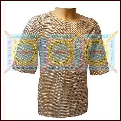 £15 • Buy Butted ChainMail Shirt Aluminum Chainmail LARP, SCA, Silver Anodizing A1