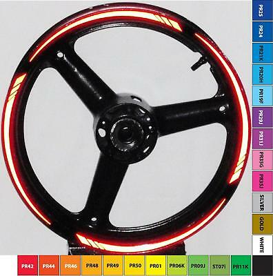 3m Gp Tapered Reflective Rim Stripes Wheel Decals Tape Stickers Ninja Ex 500 650 • 15.40£