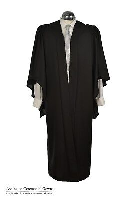 Bachelors Graduation Gown University Fully Fluted  Academic Robe Masters BA MA • 29.99£