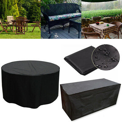 Waterproof Rattan Garden Furniture 4/6/8 Seater Table Chair Set Protector Cover • 34.74£