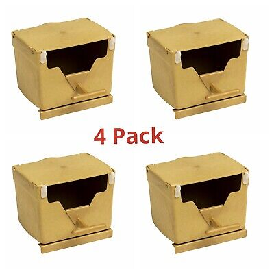£14.45 • Buy 4x PLASTIC FINCH NEST BOX With Hooks Front & Back For Cage Exotic Finches Etc