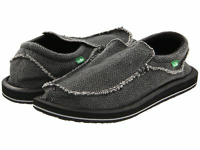 Man Sanuk Chiba Sidewalk Surfer Slip On Shoe SMF1047 Color Black 100% Original • 41.45£