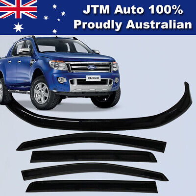 AU110.67 • Buy Bonnet Protector & Window Visors Weather Shield To Suit Ford Ranger PX 2012-2015