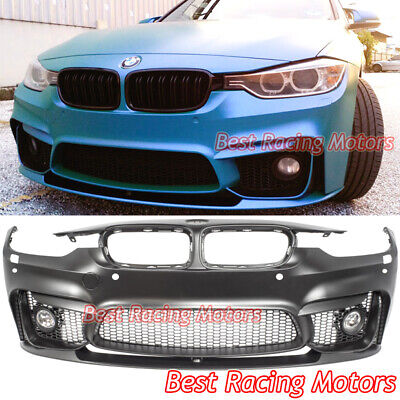 $599.99 • Buy M3 (F80) Style Front Bumper + Performance Style Lip + Fog Fit 12-18 BMW F30 F31