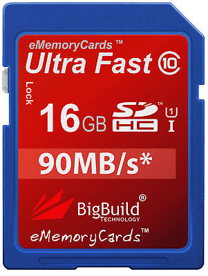 16GB Memory Card For Olympus E5 Camera | Class 10 80MB/s Speed SD SDHC New UK • 8.95£