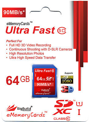 64GB Memory Card For Olympus E 5 Camera | Class 10 80MB/s Speed SD SDXC New UK • 16.95£