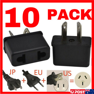 AU10 • Buy 10 X USA EU EURO ASIA To AU AUS AUST AUSTRALIAN POWER PLUGs TRAVEL ADAPTER