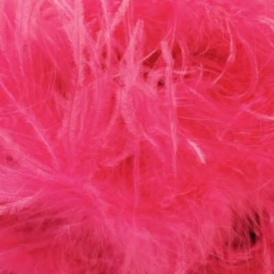 £14.56 • Buy Ostrich & Marabou Feather Boa - Vibrant Pink