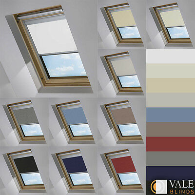 Blackout Skylight Blinds For Velux Windows Every Size & Colour (vale Model) • 79.74£