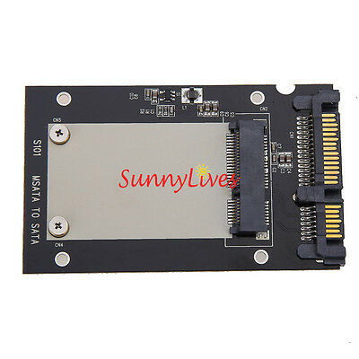 AU4.94 • Buy Enclosure MSATA SSD To 2.5  SATA Convertor Adapter Card SSD Case For Laptop PC
