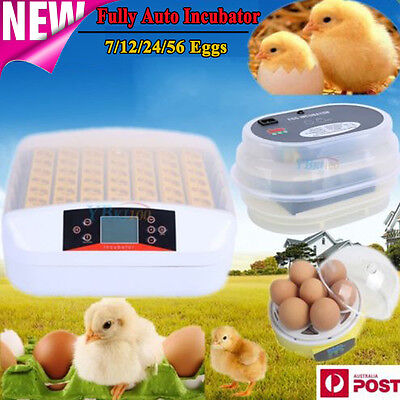 AU21.89 • Buy 7-56 Egg Incubator Fully Automatic Digital Turning Chicken Duck Eggs Poultry CE
