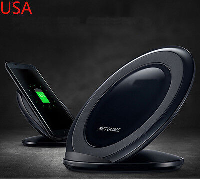$ CDN21.32 • Buy For Samsung Galaxy S8 S7 Note 5 Fast Qi Wireless Charger Charging Pad Stand Dock