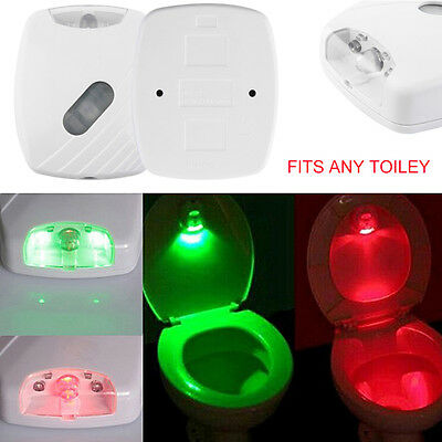 LED Toilet Lid Induction Lamp Night Light Human Motion Activated Sensor Lamp • 4.99$