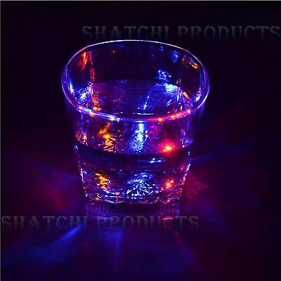 LED Flashing Glowing Light-Up Water Liquid Activated Wine Glass Cups Mugs Party • 3.49£