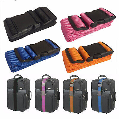 1.5 Meter Luggage Strap Polypropylene Heavy Duty Snap Buckle Suitcase Case Tape • 8.99£
