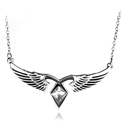 Mortal Instruments City Of Bones Ashes Angel Wings Power Rune Pendant Necklace • 4.96£