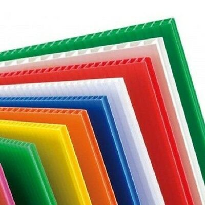 £24.99 • Buy 4mm Correx Fluted Corrugated Plastic Sheet 1220 X 600 *6 COLOURS TO CHOOSE*