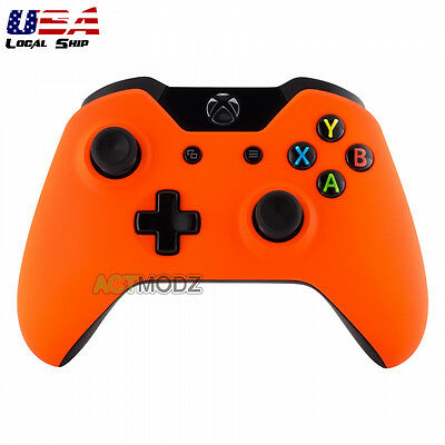 $12.99 • Buy Soft Touch Orange Protector Front Shell Cover Repair Kit For Xbox One Controller