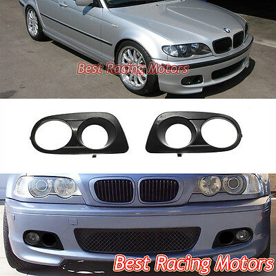 $39.99 • Buy Dual Hole Air Duct Fog Covers (ABS) Fits BMW E46 3-Series M-Tech II Front Bumper