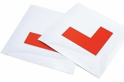 2 X Fully Magnetic Exterior Car New Learner Driver L Plates - Secure & Safe • 2.99£