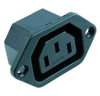 2 X C13 IEC Chassis Outlet Socket Chassis • 1.99£