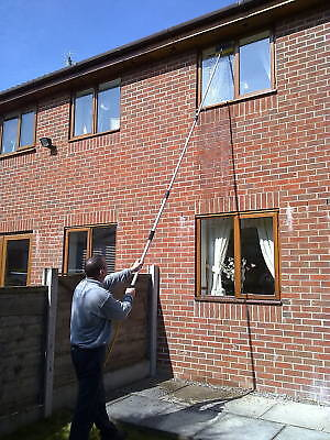 16ft Water Fed Window Cleaning Pole Cleaner Telescopic Extension Equipment  Kit • 69.99£