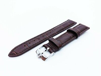 Brown Genuine Leather Strap/Band Fit OMEGA Watch 18mm 19mm 20mm Buckle/Clasp • 14.90£