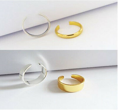 Adjustable Men/Women Band Ring Thin Silver Gold Thumb/Toe/Finger/Knuckle Ring  • 3.99£