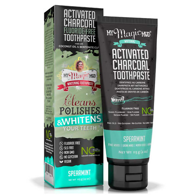 AU19.95 • Buy My Magic Mud Charcoal Bentonite Clay Whitening Toothpaste Spearmint 113 G