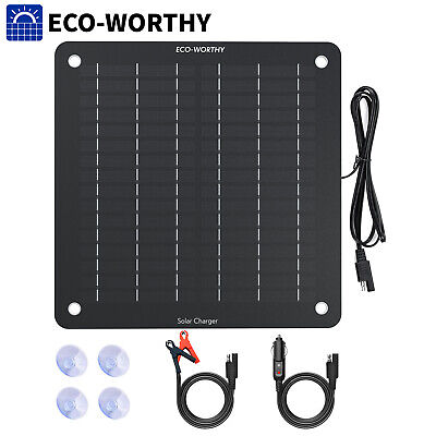 AU39.99 • Buy 5W Solar Trickle Charger Portable Solar Panel Battery Maintainer For Car,Boat,RV