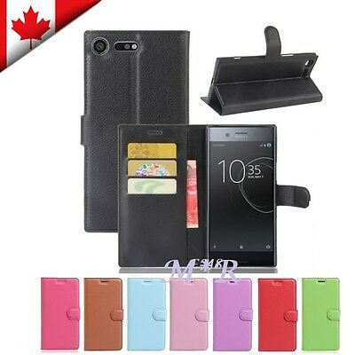 $ CDN7.49 • Buy Wallet Leather Card Pocket Flip PU Case Cover For Sony Xperia XZ Premium