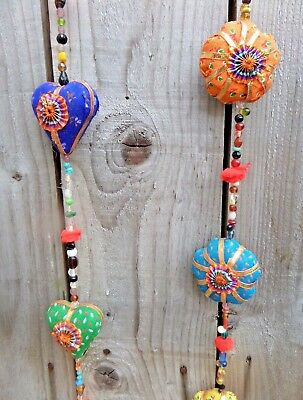 £10.99 • Buy FairTrade Hand Made Indian Love Hearts Flower String Wind Chime Windchime Mobile