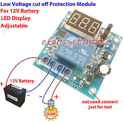 12V10A Battery Automatic Low Voltage Cut Off Switch Protection Board LED Display • 5.67£