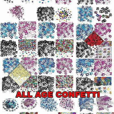Age 16 18 21 30 40 50 60 70 80 90 TH Birthday Confetti Party Table Decoration UK • 3.29£