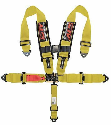 $ CDN114.10 • Buy UNIVERSAL YELLOW 5 Point Latch And Link Racing Seat Belt HARNESS SFI