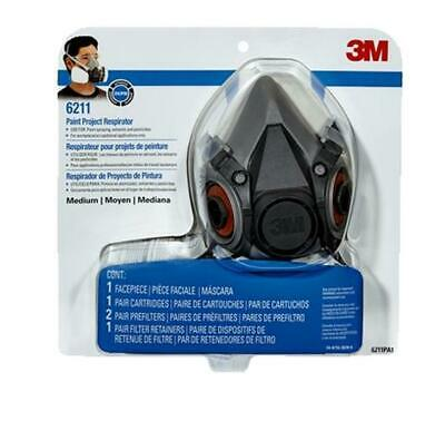AU89.99 • Buy 3m Paint Respirator R6211 Medium Safety Mask Reusable