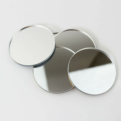 PK Of 6 Mirror Circle / Acrylic Mirror Disc Shatter Resistant / Wall Decor • 1.99£