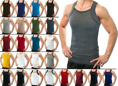 $19.99 • Buy Different Touch Men's G-unit Style Tank Tops Square Cut Muscle Rib A-Shirts