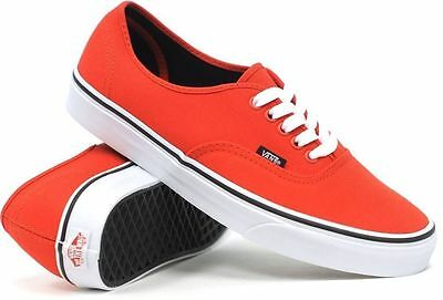 AU29.99 • Buy Vans Shoes Authentic Fiery Red Black USA Size FREE POST Skateboard Sneakers