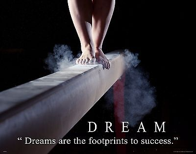 Gymnastics Motivational Patent Poster Art Print Balance Beam Bars Leotard PAT370