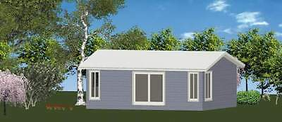 AU16715 • Buy 1 Bedroom DIY Granny Flat Kit - The Island 52m2 For Your Slab - FC Weatherboard