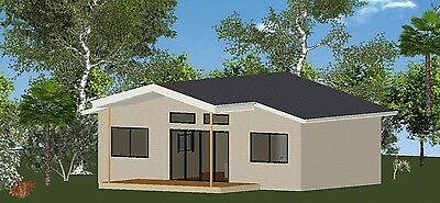 AU21900 • Buy 2 Bedroom DIY Granny Flat Kit - The Oceanview 60 For Your Slab - FC Weatherboard