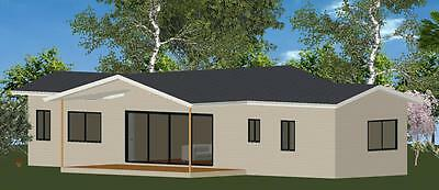 AU40230 • Buy 2 Bedroom DIY Granny Flat Kit - The Panorama 90 For Your Slab - FC Weatherboard
