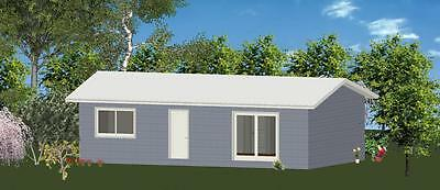 AU23825 • Buy 2 Bedroom DIY Granny Flat Kit - The Sapphire For Your Slab - FC Weatherboard