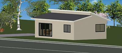 AU26165 • Buy 2 Bedroom DIY Granny Flat Kit The Cityscape 70m2 For Your Slab - FC Weatherboard