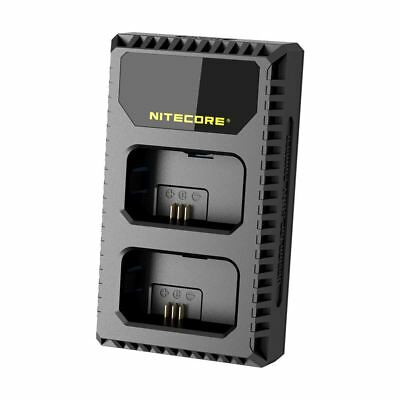 Nitecore USN1 LCD Display Dual Slot USB Battery Charger For Sony NP-FW50 • 19.95£